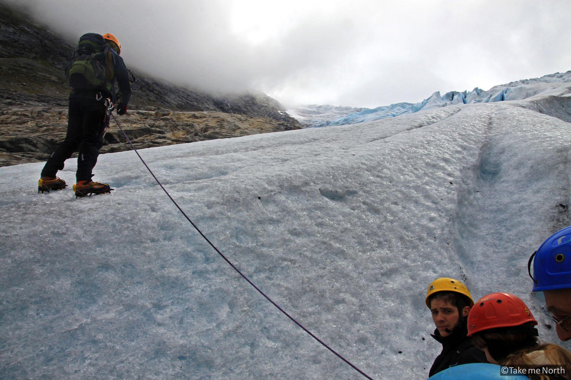 Glacier hike on Bødalsbreen, 2010