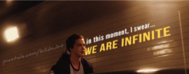 """And in this moment, I swear... we are infinite."" - Stephen Chbosky"