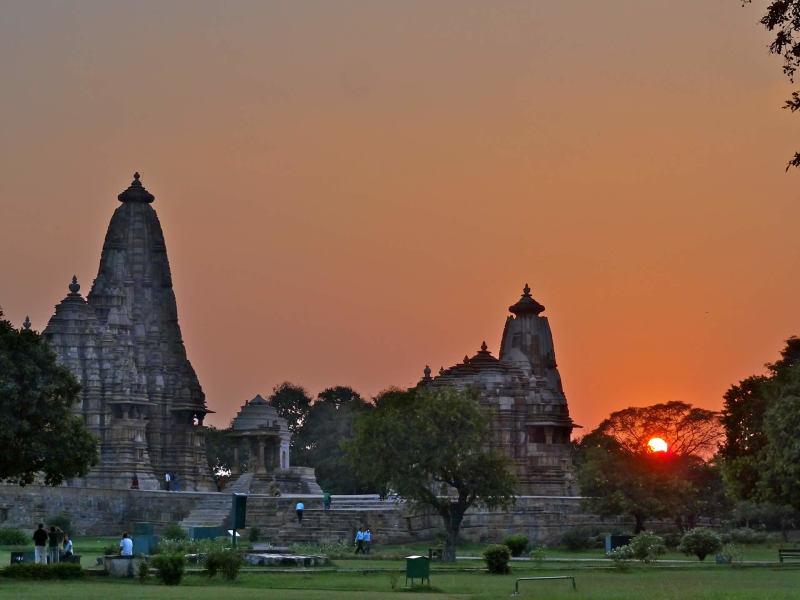 Sunset at Khajurao Temple