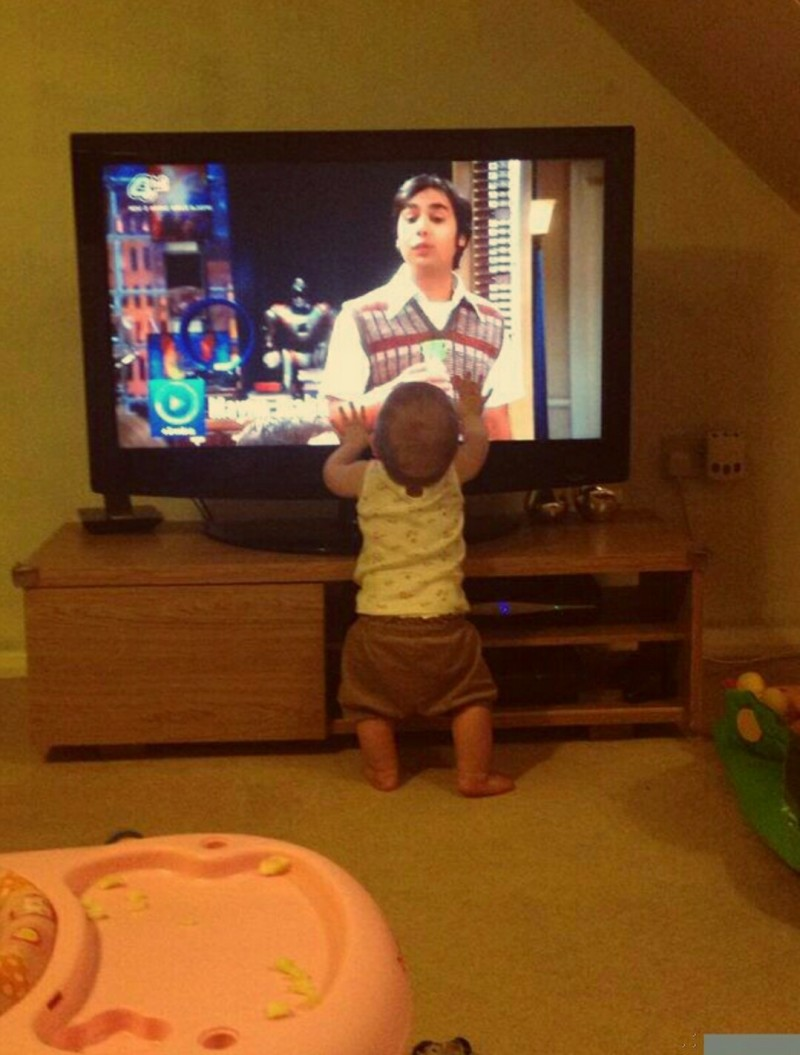 Geeky Kid Loves Raj
