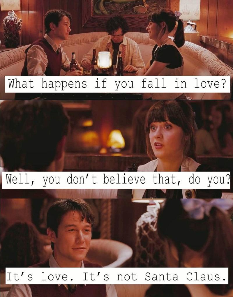It's love. It's not Santa Claus.
