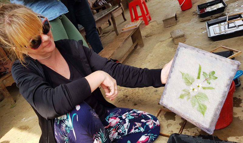 Vietnam Community-based Tourism Network: Vietnam Art Workshop: Discover the Art of Paper-Making