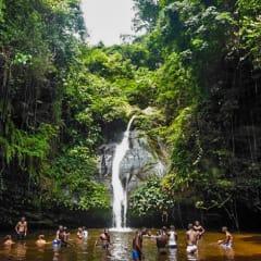Togo tour - swimming under waterfalls