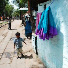 homeless street children in India