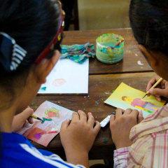 Cambodian paintings workshop