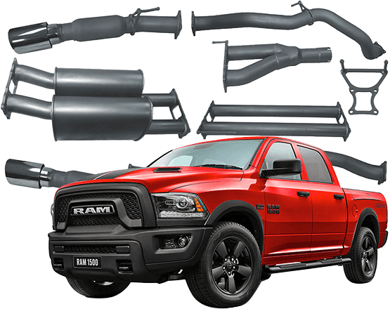 RAM 1500 Redback 4x4 Extreme Duty Exhaust.