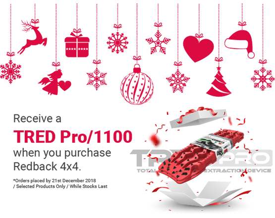 Receive a TRED when you purchase Redback 4x4