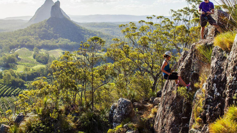 Abseil the Glasshouse Mountains Full Day