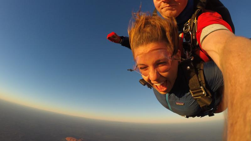 Skydiving sunrise