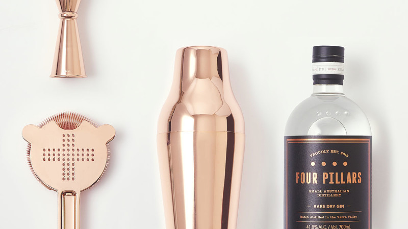 Gin Snob Copper Cocktail Set