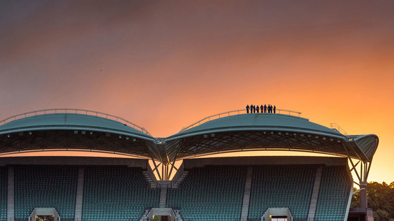 Adelaide Oval Roof Climb Twilight