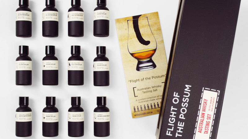 flight of the possum australian whisky tasting set. Black Bedroom Furniture Sets. Home Design Ideas