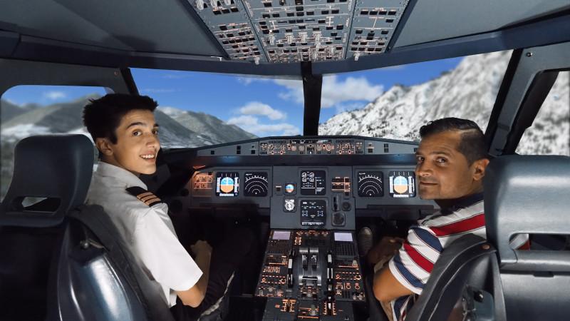 dual pilot flight simulator experience for 2. Black Bedroom Furniture Sets. Home Design Ideas