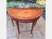 Georgian mahogany inlaid card table