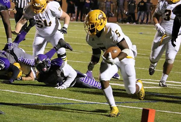 Tra Minter rushed past Dodge City for 107 yards