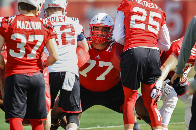 Right tackle David Knevel is ready to return to the starting lineup this week at Indiana.