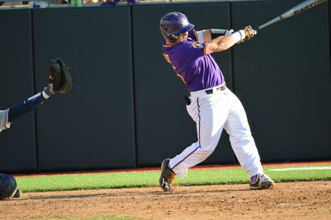 Eric Tyler knocked a home run in the seventh inning that gave ECU a 2-0 lead before falling 9-4.
