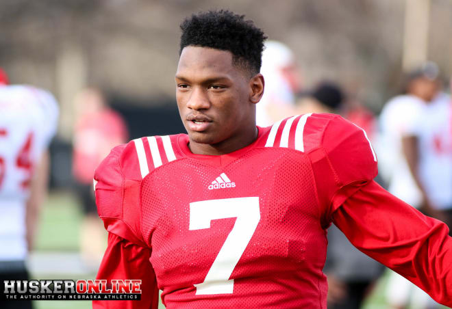 Linebacker Mohamed Barry was one of the stars of Saturday's first spring scrimmage.