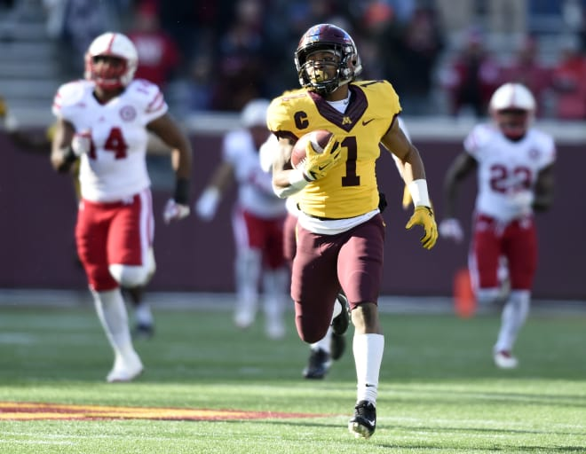 Running back Rodney Smith returns to Minnesota after producing over 3,200 rushing and receiving yards the last three seasons for the Gophers.