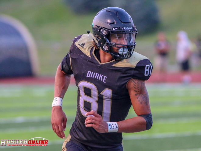 Omaha Burke tight end Chris Hickman has committed to Nebraska.