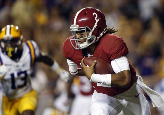Alabama quarterback Jalen Hurts will challenge FSU's defense on the ground and through the air.
