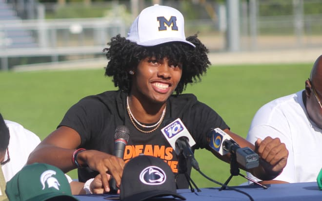 In-state wide receiver Andrel Anthony committed to Michigan Wolverines football recruiting, Jim Harbaugh.