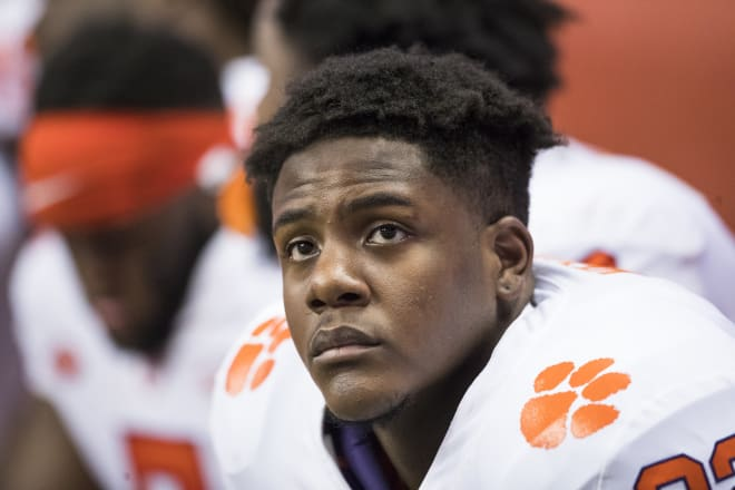 Xavier Kelly is a graduate transfer defensive tackle from Clemson who is considering Arkansas.