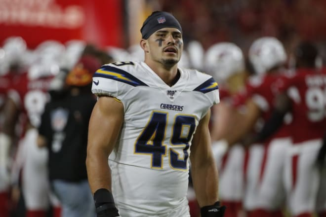 Tranquill was tied for second in the league in special teams stops (nine) through nine weeks, and he blocked a punt in the Chargers' 26-11 victory over the Packers on Sunday.