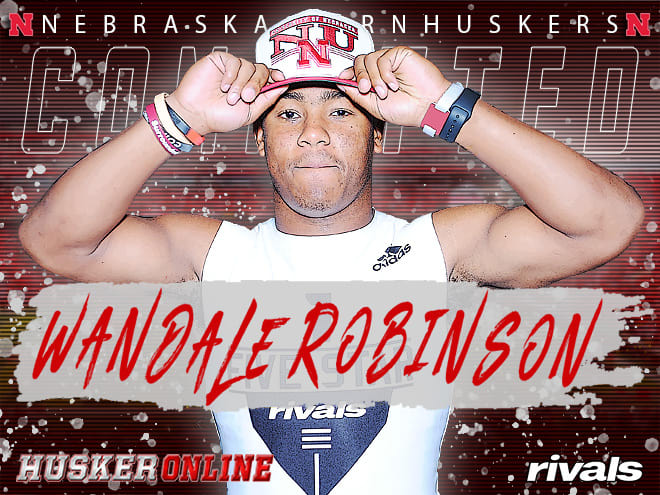 Rivals100 prospect Wandale Robinson announced he was flipping his commitment from Kentucky to Nebraska on Wednesday.