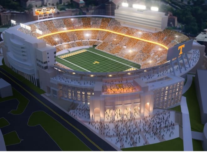 Tennessee has a $180 million renovation planned, but will still keep it's capacity over 100,000.