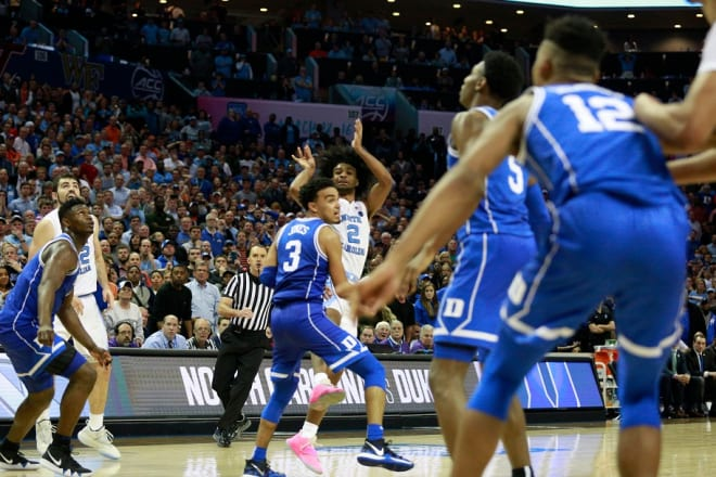 Coby White's last-second 3-point attempt never should have been, as he explained after UNC's loss to Duke.