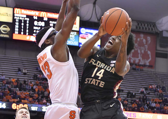 Terance Mann scored a season-high 22 points on Tuesday night in the Seminoles' 80-62 win at Syracuse.
