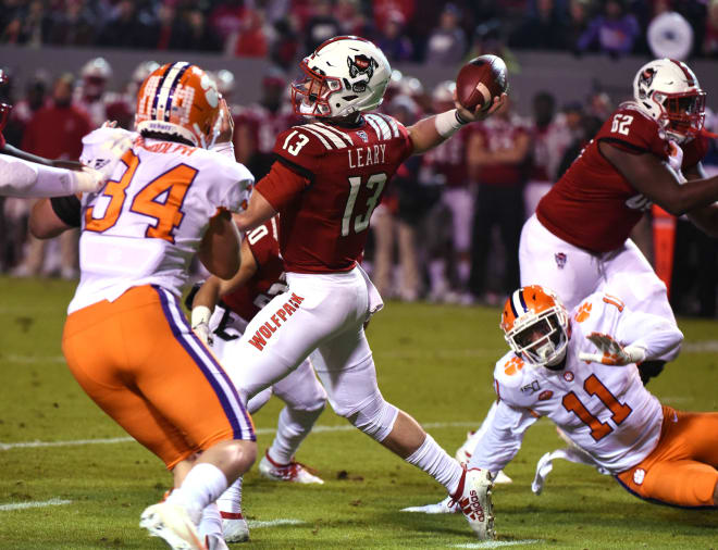 Redshirt freshman quarterback Devin Leary and the Wolfpack offense struggled again, this time against the Tigers.