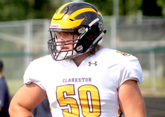 Four-star offensive lineman Rocco Spindler holds a Michigan offer.
