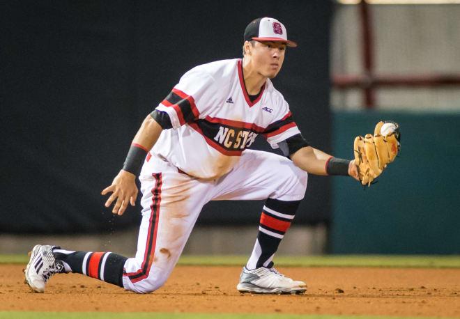 Junior third baseman Evan Mendoza led the Pack with a .362 batting average last season.