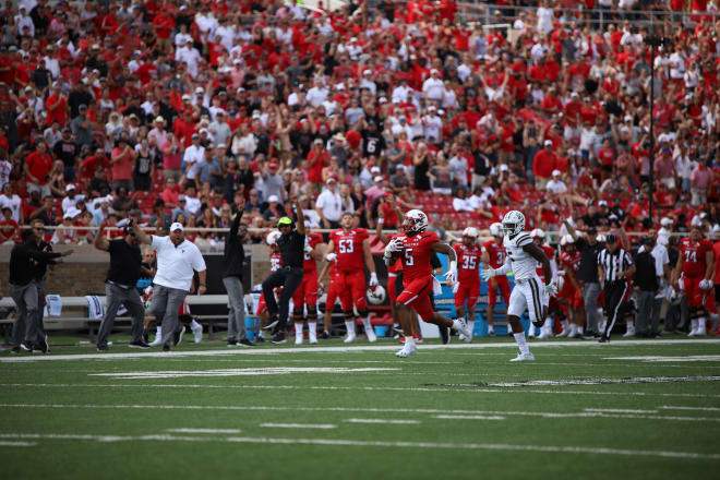 Utah transfer Armand Shyne scampers his way to the end zone on a 69-yard carry in a 45-10 season opening win over Montana State.