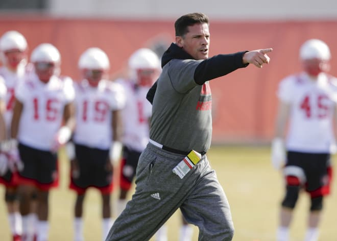 Along with serving as defensive coordinator, Bob Diaco is also coaching Nebraska's punters.