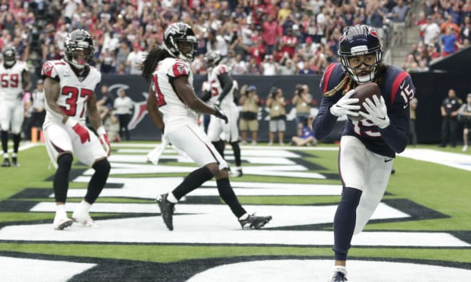 Fuller notched 14 receptions for 217 yards and three touchdowns against the Atlanta Falcons on Sunday.