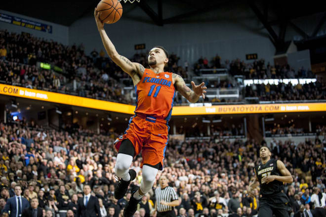Chiozza-led Gators steal win at Missouri, 77-75