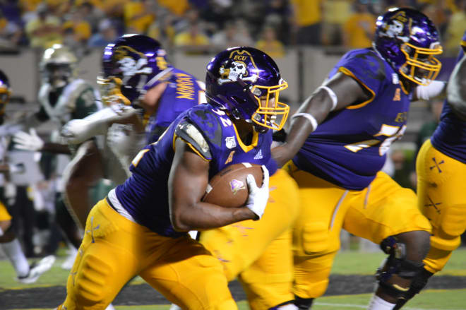 ECU running back Trace Christian found plenty of running room in Saturday's 19-7 win over William & Mary.