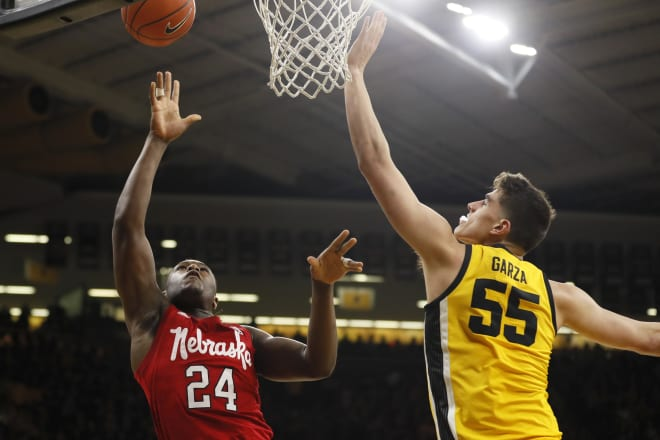 Nebraska trailed by a season-high 38 points before falling to No. 17 Iowa in a 96-72 defeat on Saturday night.