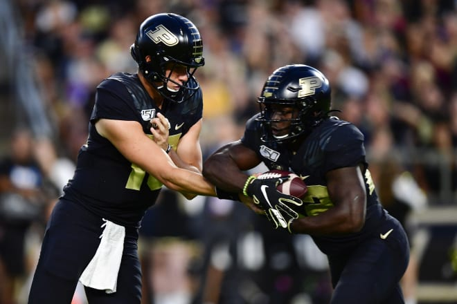 Jack Plummer made his first start at quarterback for Purdue.