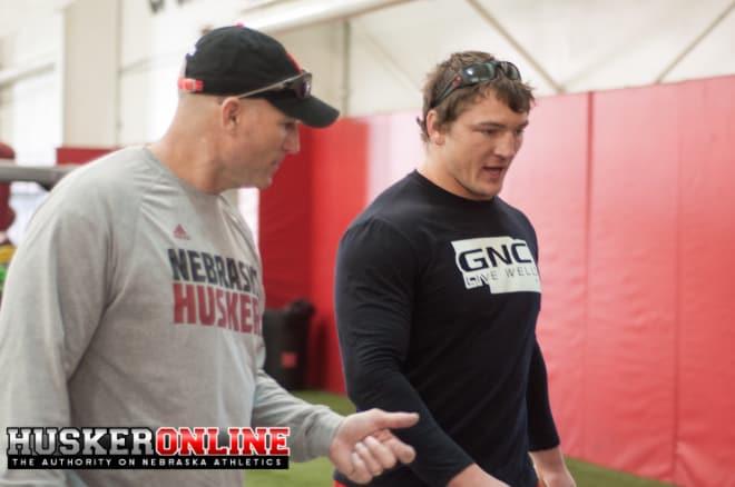 Defensive Line coach John Parrella & former Husker Jack Gangwish