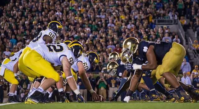 Notre Dame holds a 16-15-1 series edge against Michigan since the renewal of the series in 1978.