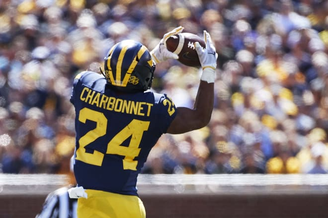 Zach Charbonnet showed off considerable skills in his true freshman season with the Wolverines.