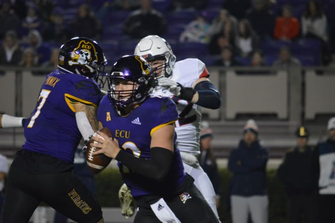 Quarterback Holton Ahlers and ECU picked up their third victory of the year in a 55-21 senior night win over UConn.