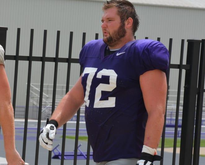 Kansas State offensive linemen Evan Curl.
