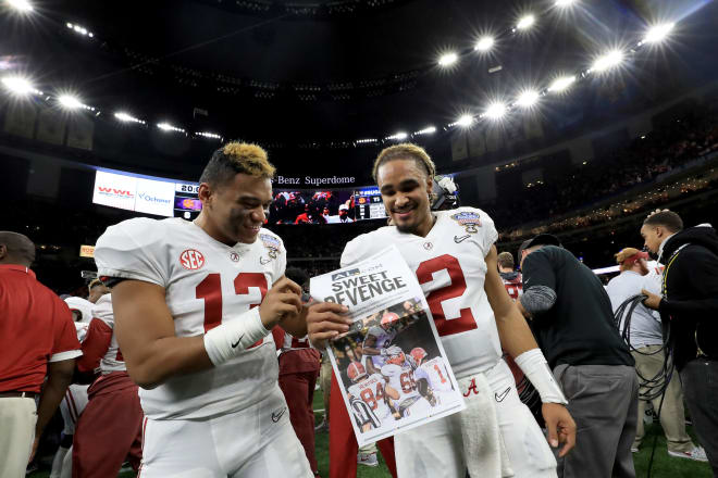 Jalen Hurts Trolls Charles Barkley With National Championship Trophy After Losing Bet