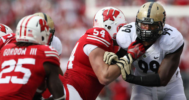 DE Ryan Russell was one of the few consistent bright spots during a downtrodden era for Purdue from 2011-14