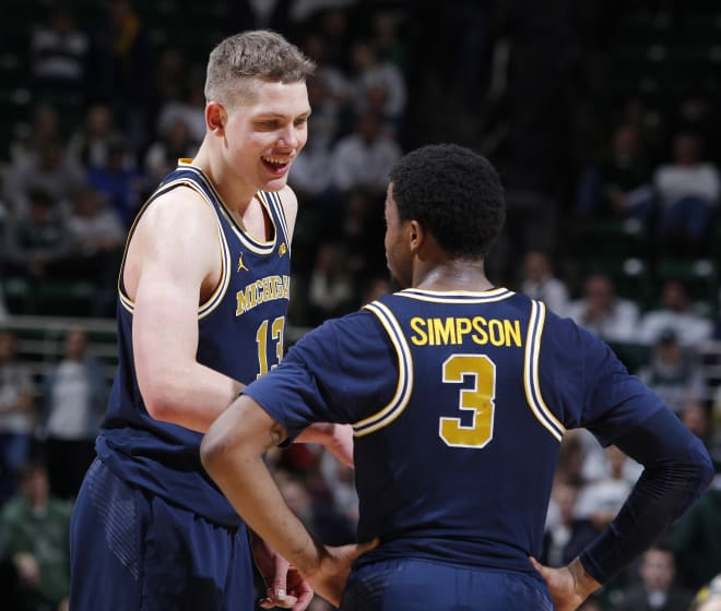 Michigan State leads Michigan 37-34 at halftime